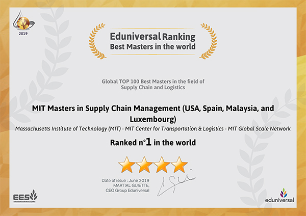 SCALE SCM programs are ranked #1 in the world by Paris-based EdUniversal