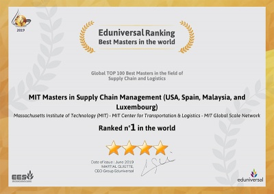 MIT Global Supply Chain Management master's programs ranked #1 in the world