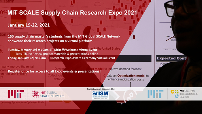 2021 SCALE Supply Chain Research Expo flyer